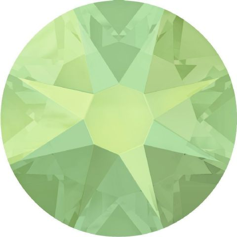 Flatback Crystals, No-Hotfix, Round, Chrysolite Opal